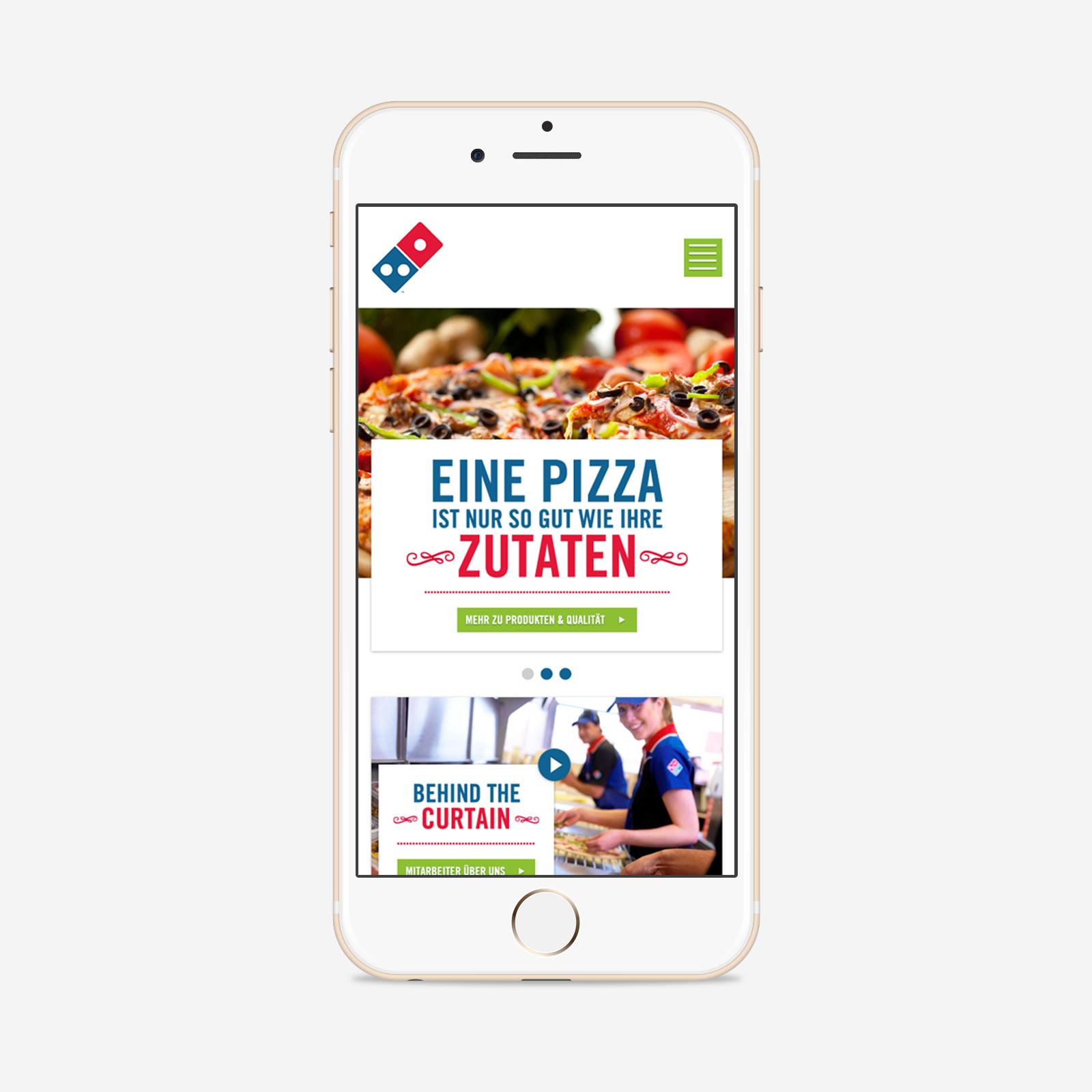 Domino's Pizza Unternehmensauftritt